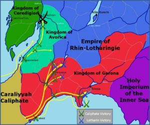 Battles of the 6th Trinitian-Tauheed Holy War.