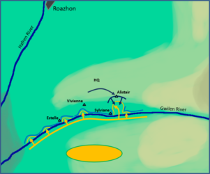Battle of Gwilen River: Alistair's counterattack.